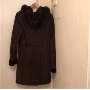 Andrew Marc Faux Shearling Brown Coat